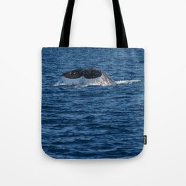 Zoom of Whale Near Dana Point Tote Bag
