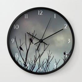 Under Grey Skies Wall Clock