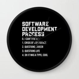 Software Development Process Python Coding Design Wall Clock