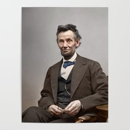 Abraham Lincoln Painting Poster