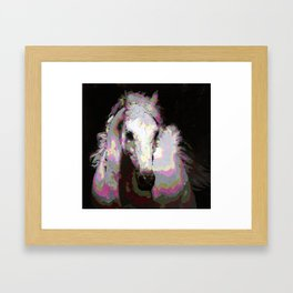 White Arabian Framed Art Print