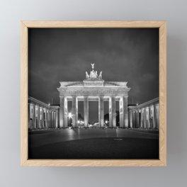 BERLIN Brandenburg Gate | monochrome Framed Mini Art Print