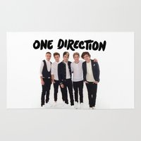 one direction Area & Throw Rugs featuring One Direction by Marianna