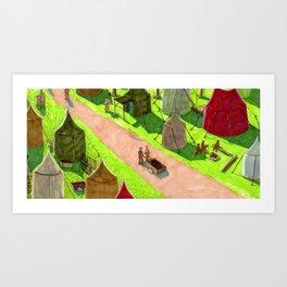 Aslan's camp Art Print
