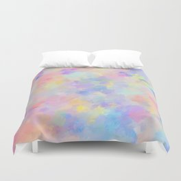 Secret Garden Colorful Abstract Impressionist Painting Pattern Duvet Cover
