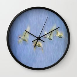 Swans Migrating  Art Wall Clock