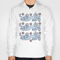 lions Hoodies featuring 3 Lions by Crease