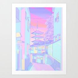 Kyoto Bubblegum Art Print