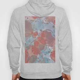 Round And Round Coral Blue Hoody