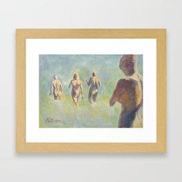 THE SWIMMERS Framed Art Print