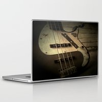 bass Laptop & iPad Skins featuring Bass-ic by Andy Burgess