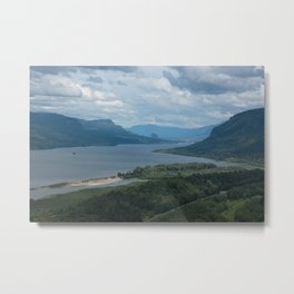 Columbia River Gorge From The Vista House Metal Print