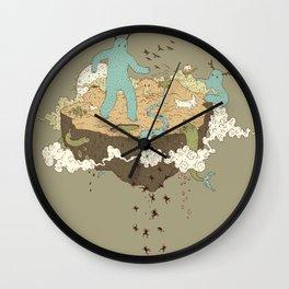 Frog Rain Wall Clock