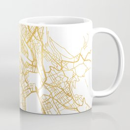 ZÜRICH SWITZERLAND CITY STREET MAP ART Coffee Mug