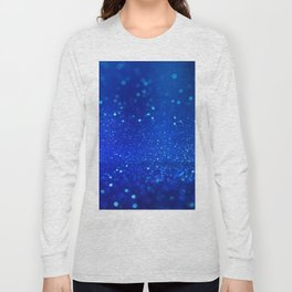 Abstract blue bokeh light background Long Sleeve T-shirt