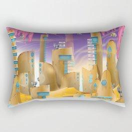 City in the Desert Rectangular Pillow