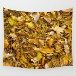 Autumnal Leaves Wall Tapestry