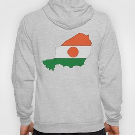 Niger Map with Nigeran Flag Hoody