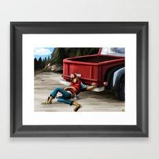 Hitched Framed Art Print