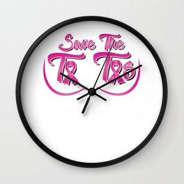 Breast Cancer Awareness Art For Warrior Women Light Wall Clock