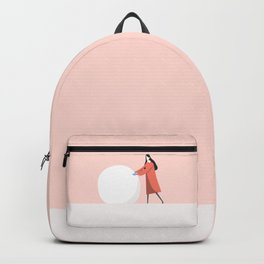 let's make snow man Backpack