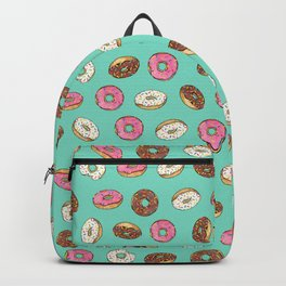 ALL the donuts! Rainbow on Aqua Backpack