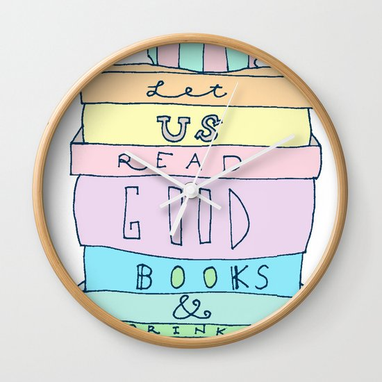Good Books Wall Clock