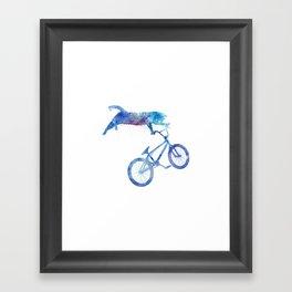 BMX Cat Framed Art Print