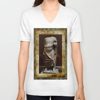 greece V-neck T-shirts featuring Greece  by Saundra Myles