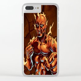 Cluster Fight Clear iPhone Case