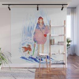 BLUE RAIN Wall Mural