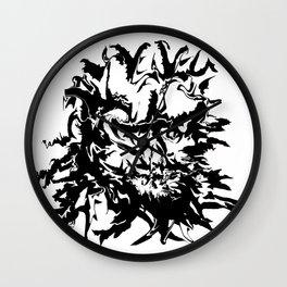 face11 black Wall Clock