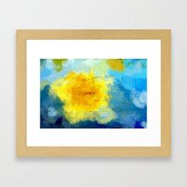 Sun And Flowers Adorn We Framed Art Print