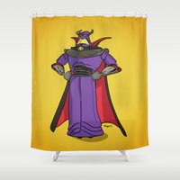 toy story Shower Curtains featuring Toy Story | Emperor Zurg by Brave Tiger Designs
