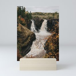 High Falls of the Pigeon River, Minnesota | Nature and Landscape Photography Mini Art Print