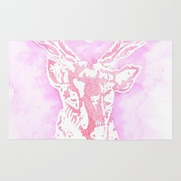 Louis' stag tattoo Rug