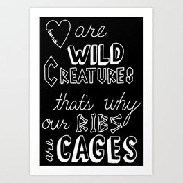 Hearts in Cages Art Print
