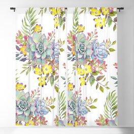 Succulent Watercolor #38 Blackout Curtain
