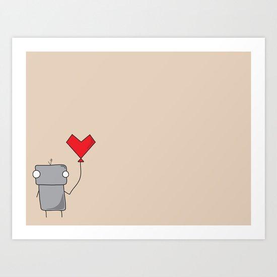 Robo Love Art Print