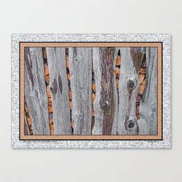 RED ALDER FIREWOOD IN A WEATHERED SHED Canvas Print