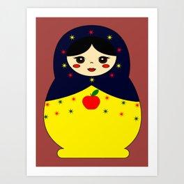 Snow White Nesting Doll Art Print