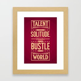 Lab No. 4 Talent Is Formed Johann Goethe Life Motivational Quotes Framed Art Print