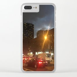 Lure of City Nights Clear iPhone Case