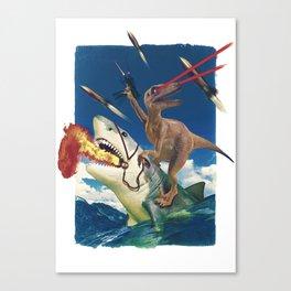 Crazy Raptor Canvas Print