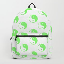 Yin & Yang (Light Green & White Pattern) Backpack