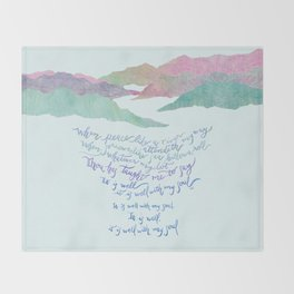 It Is Well With My Soul-Hymn Throw Blanket