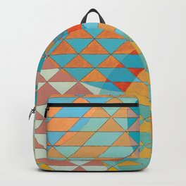 Triangle Pattern No. 11 Circles Backpack