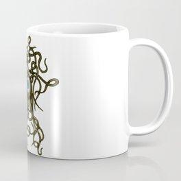 Evil Eye Halloween Creature Vector Gold Coffee Mug