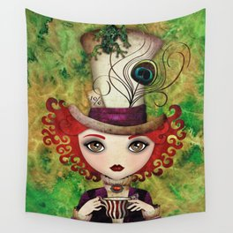 Lady Hatter Wall Tapestry