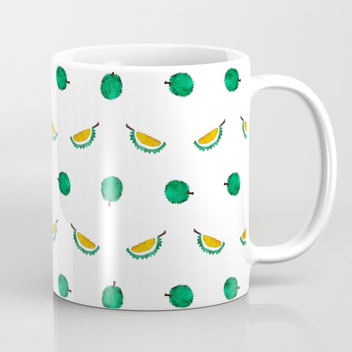 Durian - Singapore Tropical Fruits Series Coffee Mug by littleoddforest